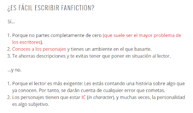 ¿Es fácil escribir fanfiction?