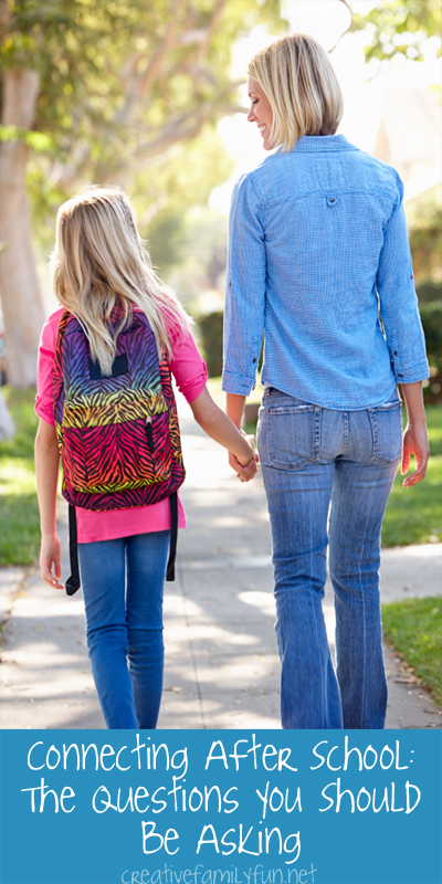 Connecting After School: 20 questions to ask your kids about their school day.