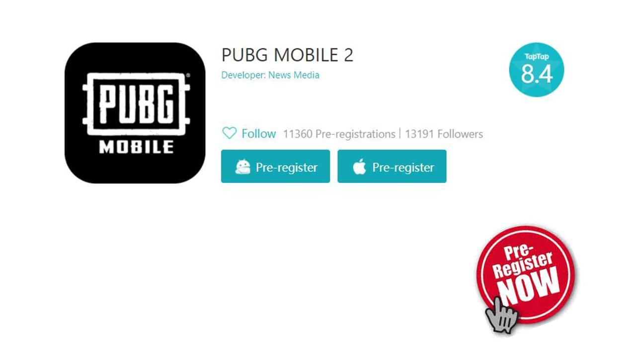 PUBG Mobile 2.0 pre-registration now live on TapTap