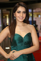 Raashi Khanna in Dark Green Sleeveless Strapless Deep neck Gown at 64th Jio Filmfare Awards South ~  Exclusive 143.JPG