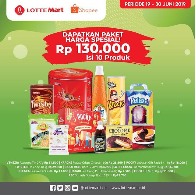 #LotteMart - #Promo Paket Harga Spesial 130K Isi 10 Produk di Shopee (s.d 30 Juni 2019)