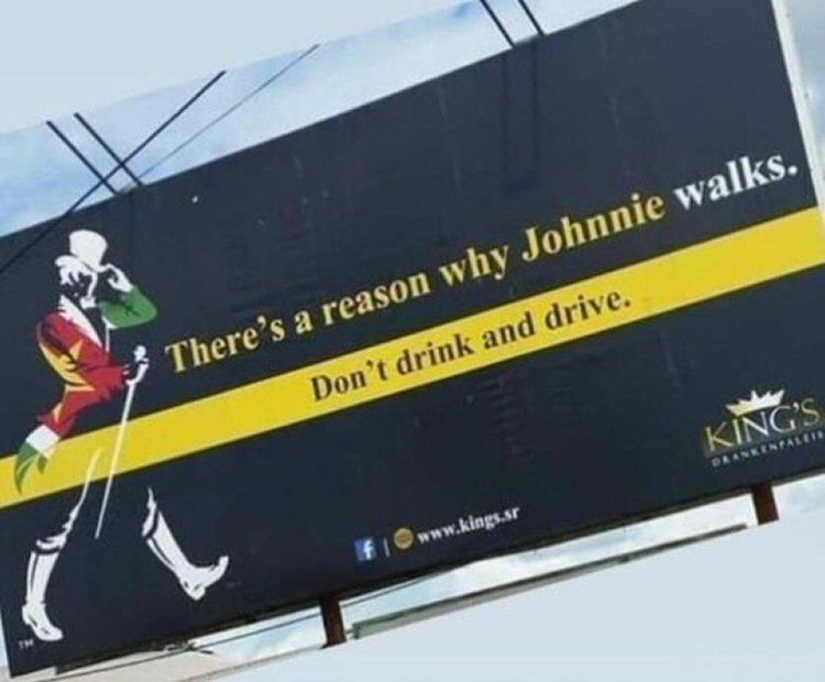 Johnnie Walker billboard