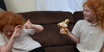 two boys playing Don't Upset The Llama
