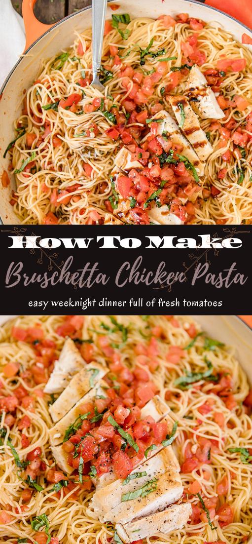 Bruschetta Chicken Pasta #healthyfood #dietketo #breakfast #food