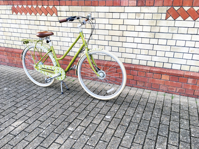 Back in the Saddle - Halfords Orla Kiely Classic Womens bike green leaf design review