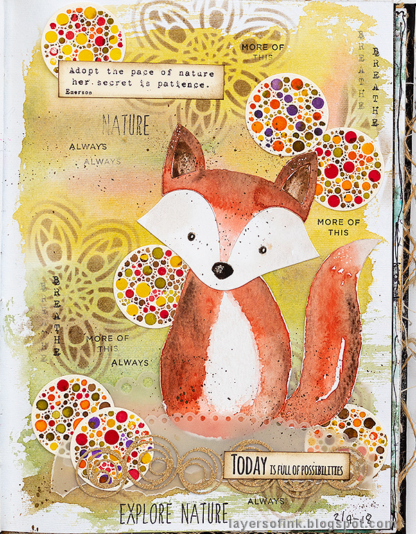 Layers of ink - Fox Watercolor Journal Tutorial by Anna-Karin Evaldsson with SSS STAMPtember products