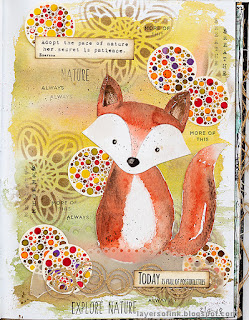 Layers of ink - Watercolor Fox Art Journal Tutorial by Anna-Karin Evaldsson