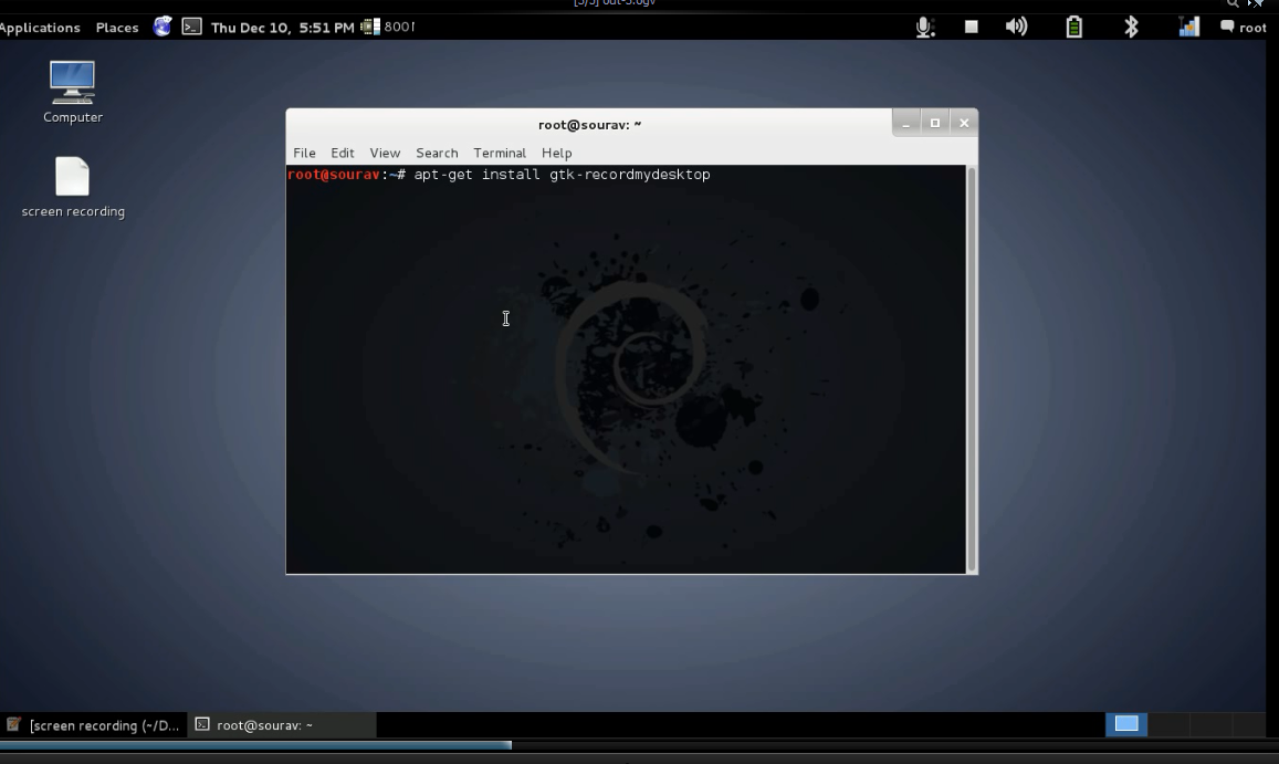 kali linux how to take screenshot screen shot desktop : How