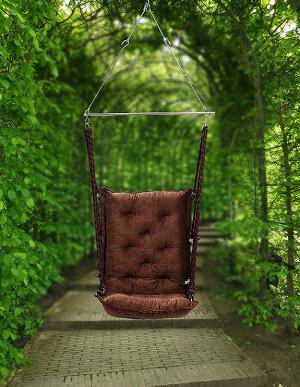Swingzy Make in India,Soft Leather Velvet Hanging Swing Chair