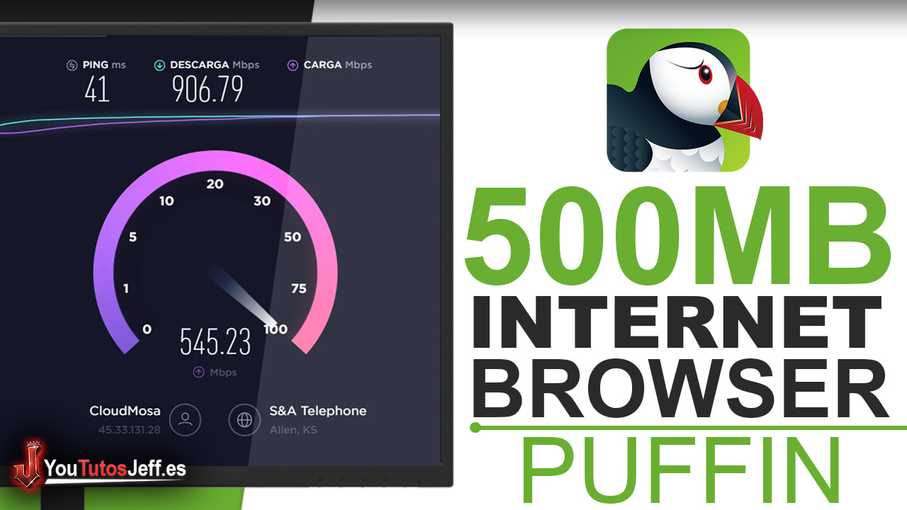 Navegador con 500MB de Internet - Descargar Puffin Browser Gratis