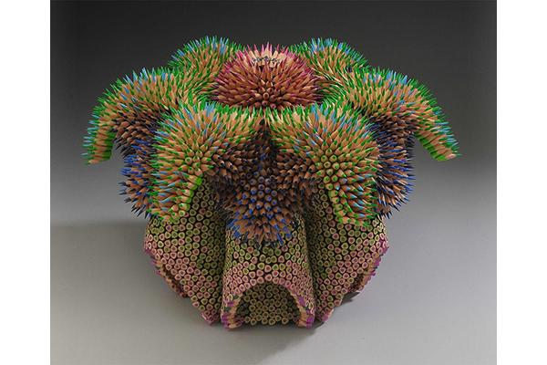 мосркие скульптуры Дженнифер Маестре из цветных карандашей