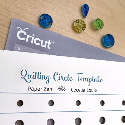 Make Quilling Circle Template with Cricut