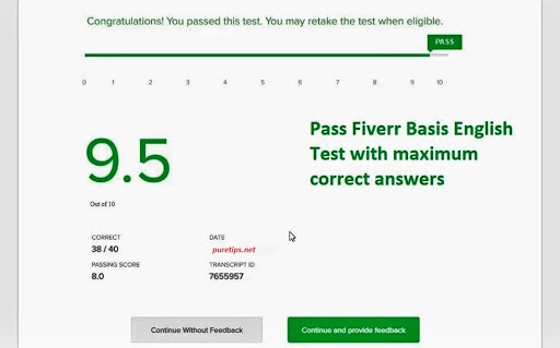 Fiverr English Basic Skills Test Answers 2020