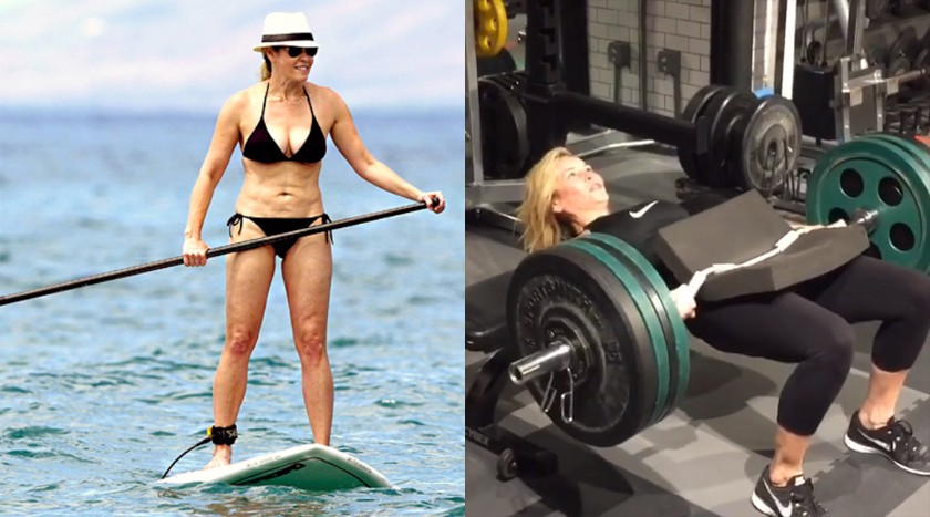 Women who lift, celebs, weight training, strong, workout, chelsea handler