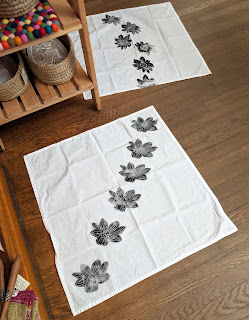 Block-printed tea towels