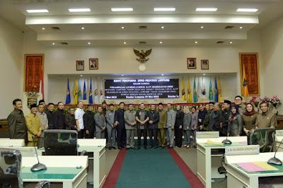 DPRD Lampung Nilai Laporan Keterangan Pertanggungjawaban Akhir Masa Jabatan Gubernur Ridho Sudah Baik