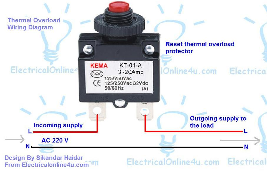 How to Wire Reset Thermal Overload Protector? | Electrical Online 4u
