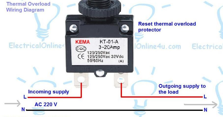 How To Wire Reset Thermal Overload Protector
