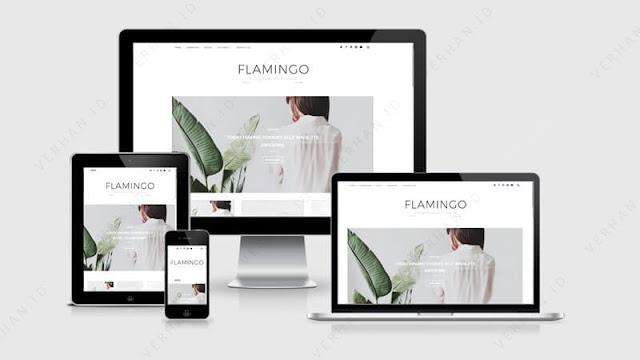 flamingo blogger template