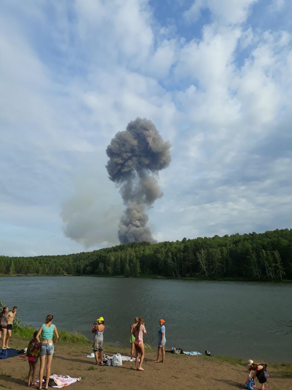 Sprādziens munīcijas noliktavās Krievijā