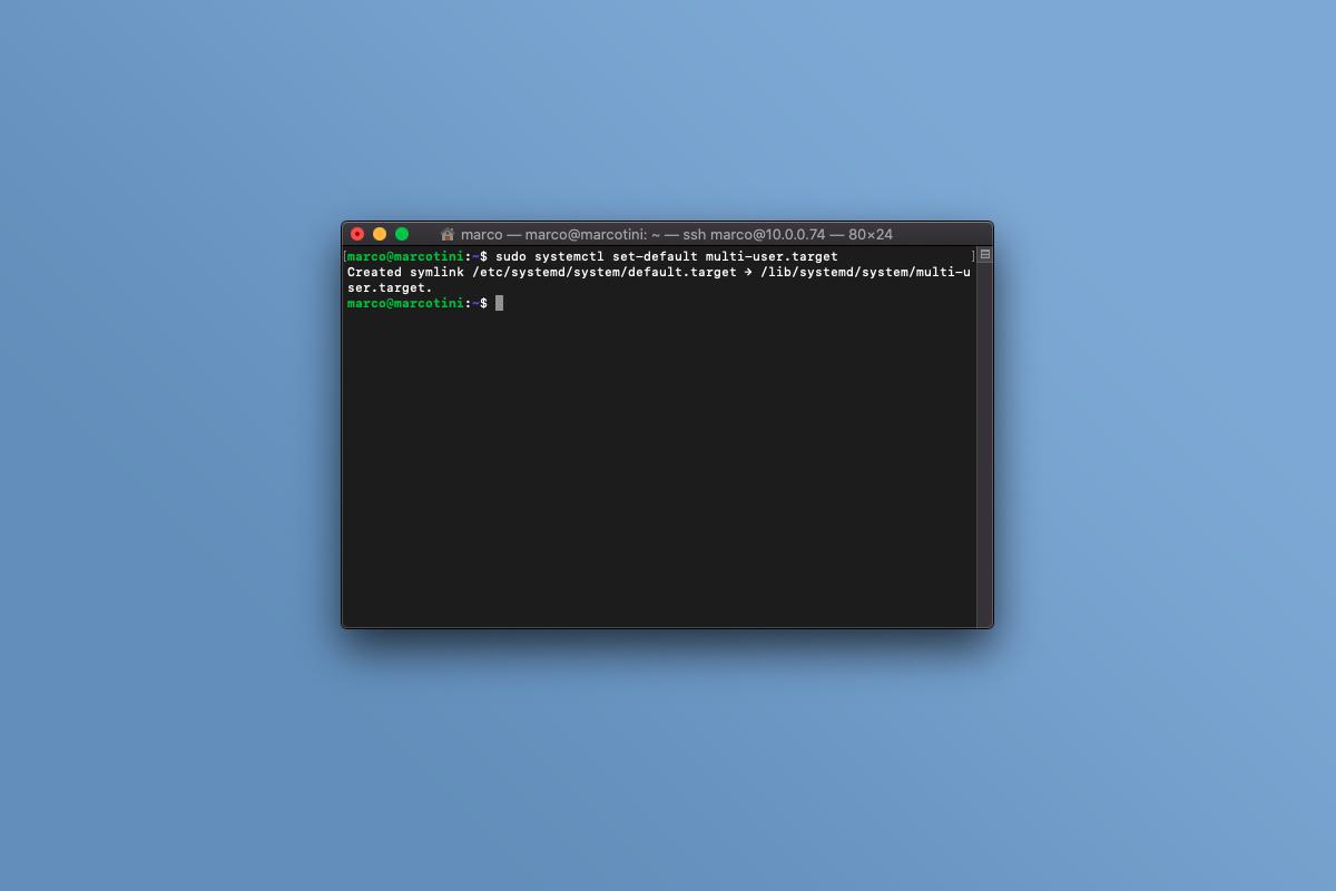 Come rimuovere la grafica a Ubuntu