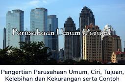 Membahas Materi Pengertian Perusahaan Umum, Ciri, Tujuan, Kelebihan dan Kekurangan serta Contoh Perusahaan Umum (Perum) Lengkap