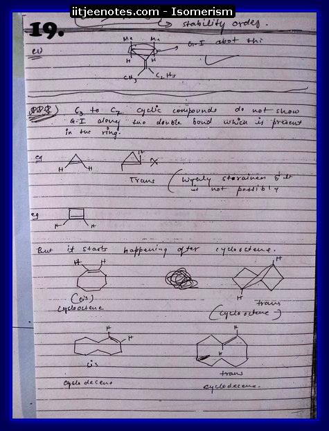 Isomerism Notes3