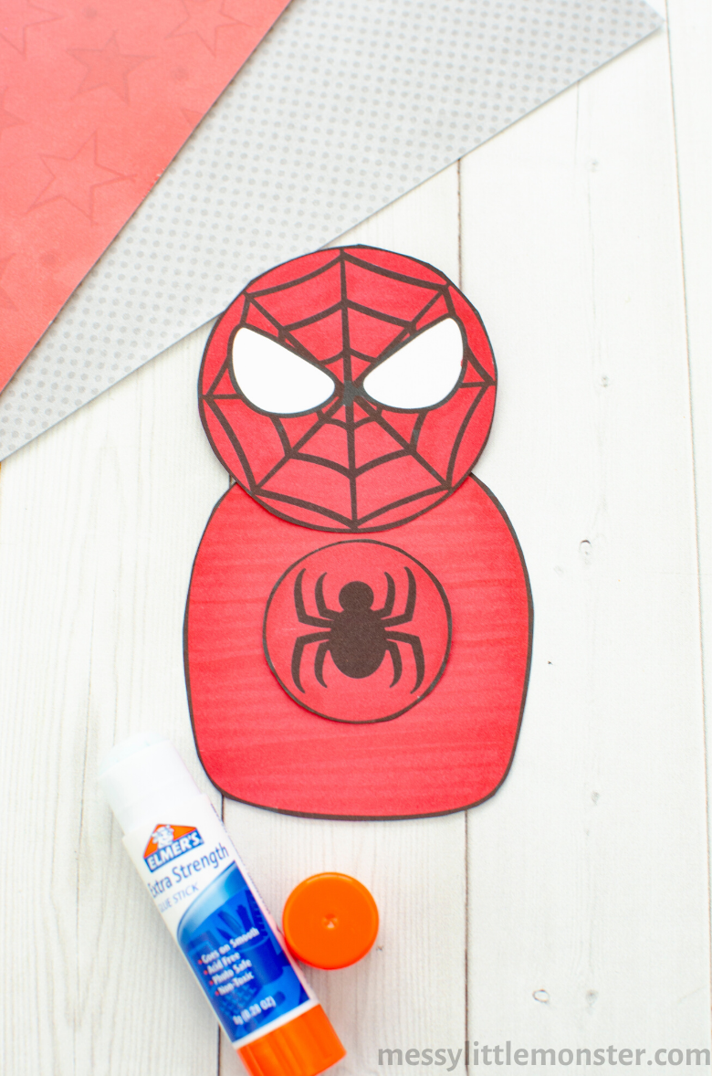 Superhero paper craft for kids