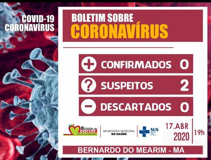 Bernardo do Mearim registra os dois primeiros casos suspeitos  coronavírus