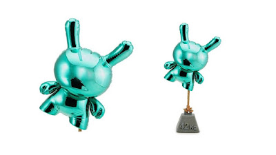 "I Am Retro Exclusive Teal Balloon Dunny 8"" Vinyl Figure by Wendigo Toys x Kidrobot"