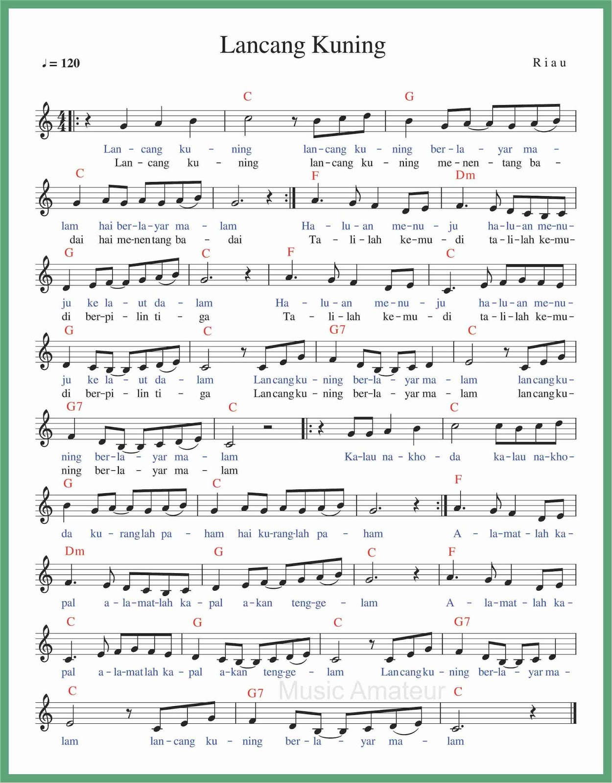 Lagu Daerah Melayu : daerah, melayu, Angka, Lancang, Kuning, SEPUTAR, MUSIK