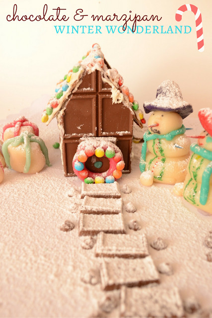 Practical Mom: Chocolate & Marzipan Winter Wonderland