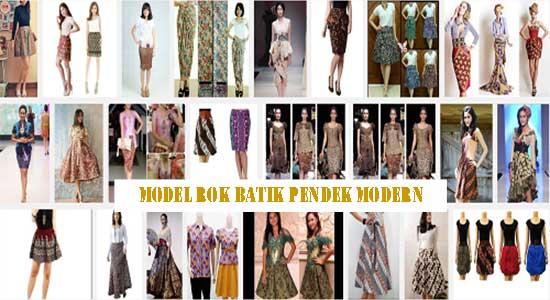 Model Rok Batik Pendek Modern Terbaru