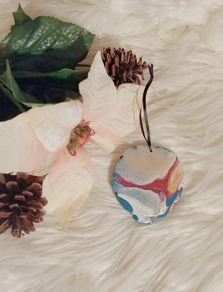 DIY Paint Pour Ornaments