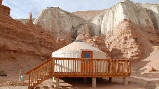 Glamping at Goblin Valley, Utah, USA
