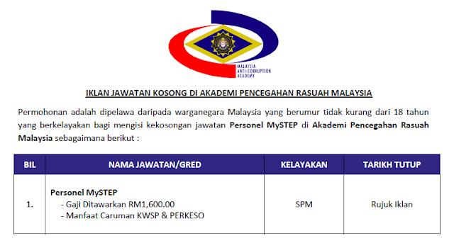 agensi pencegahan rasuah malaysia