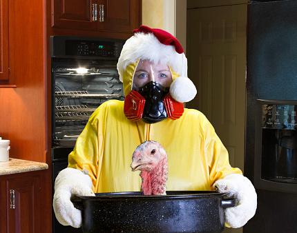 Funny Christmas hazmat suit