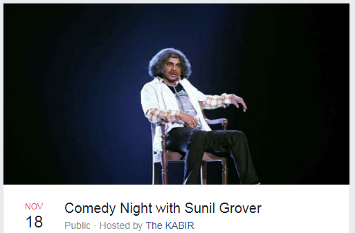 Comedy nights with Sunil Grover to come live in Dehradun.