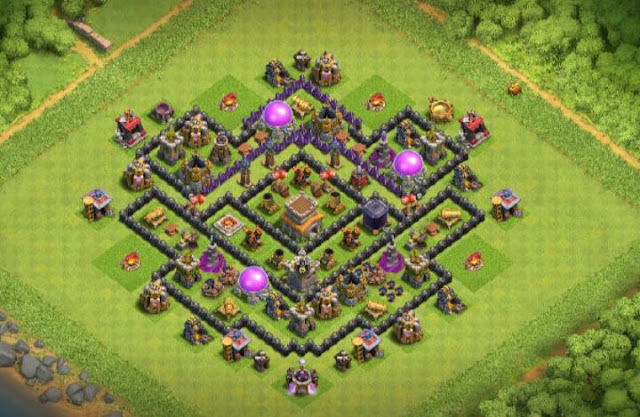 best town hall 8 trophy base