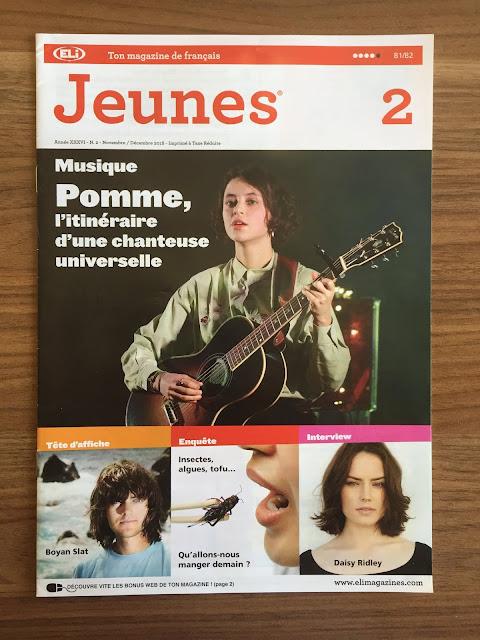 """""""Jeunes"""" - okładka czasopisma - Francuski przy kawie"""