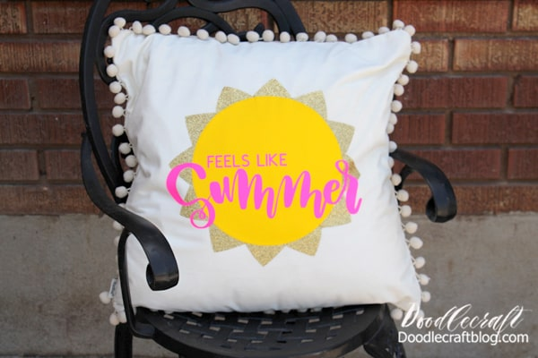 Feels Like Summer Patio Pillow DIY with Fairfield World Patio Party