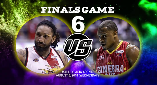 List of PBA Game(s): August 8 at MOA Arena 2018 PBA Commissioner's Cup Game 6