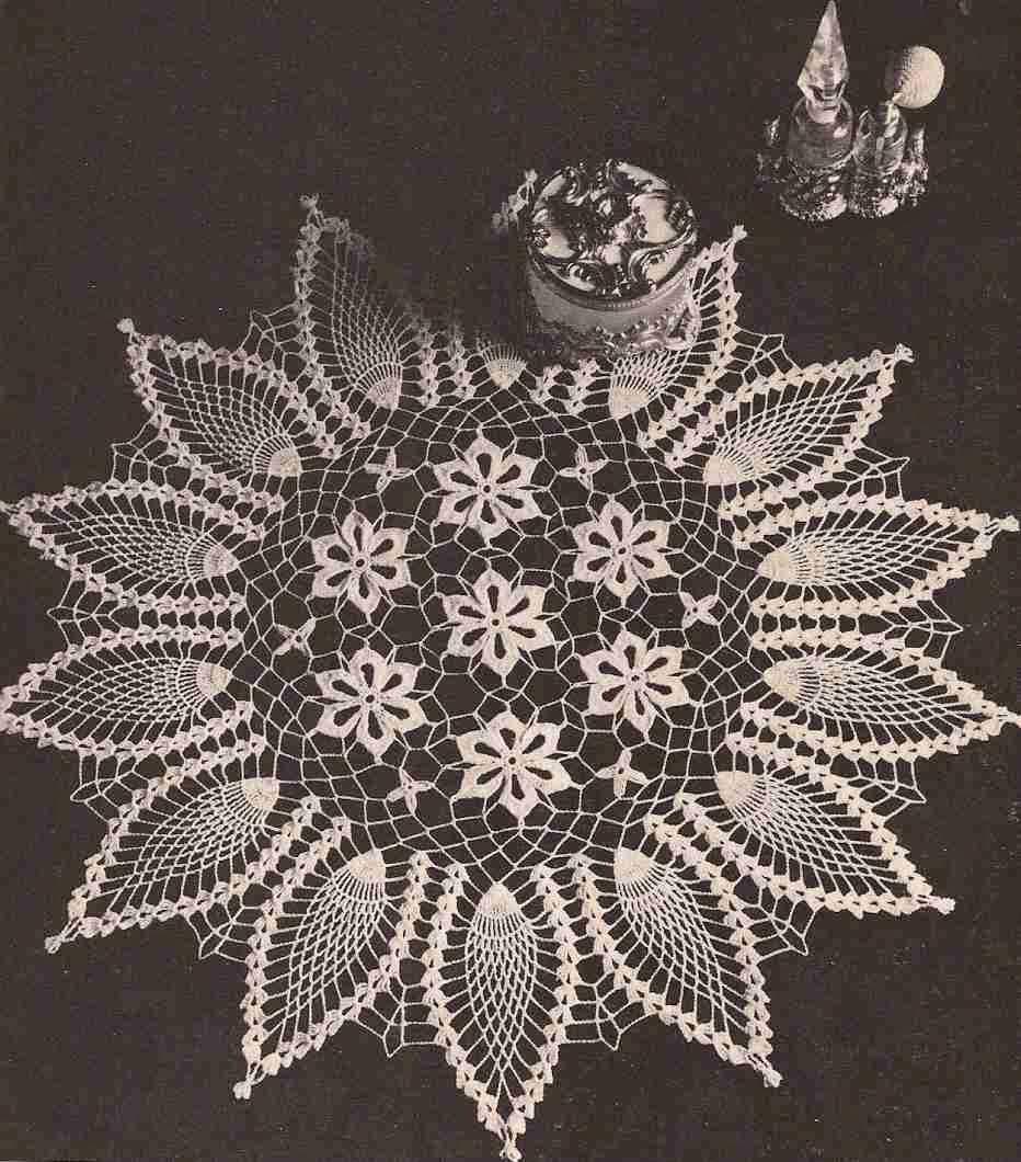 """Centro de mesa """"Girasol"""" a Crochet"""