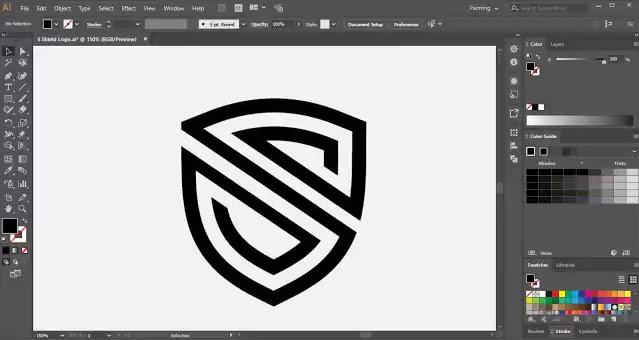 Shield-Logo-design-tutorial