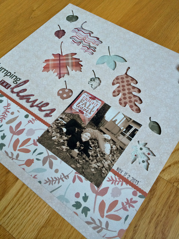 Jumping in the Leaves @craftsavvy @juliechats #craftwarehouse #authentique #fall #scrapbooking