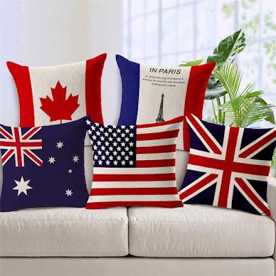 Flag throw pillows