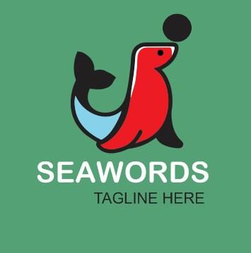 DESIGN LOGO SEA WORDS ANIMAL