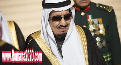 العاهل السعودي خادم الحرمين الشريفين الملك سلمان بن عبد العزيز ال سعود يستقبل مسؤولين بعد اعتقالات طالت أمراء بارزين