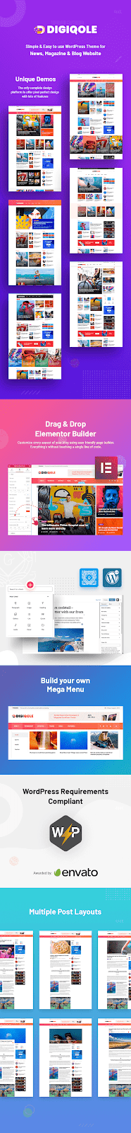 News Magazine WordPress Responsive Theme - Digiqole