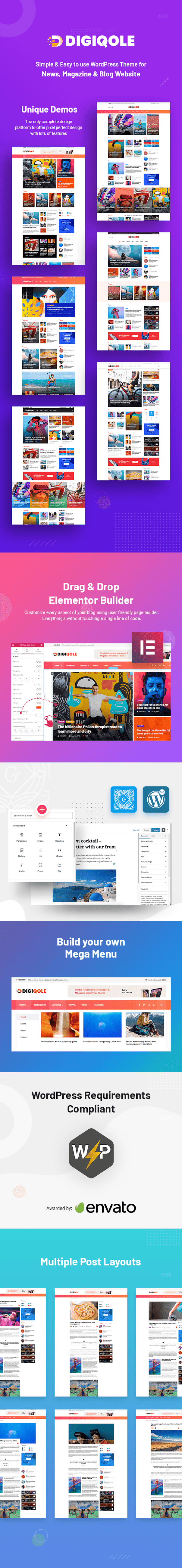 News Magazine WordPress Responsive Theme - Digiqole